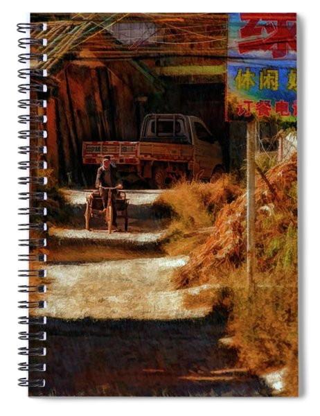 Down The Hill In China Spiral Notebook