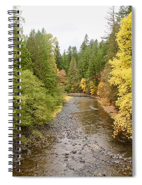 Down The Molalla Spiral Notebook