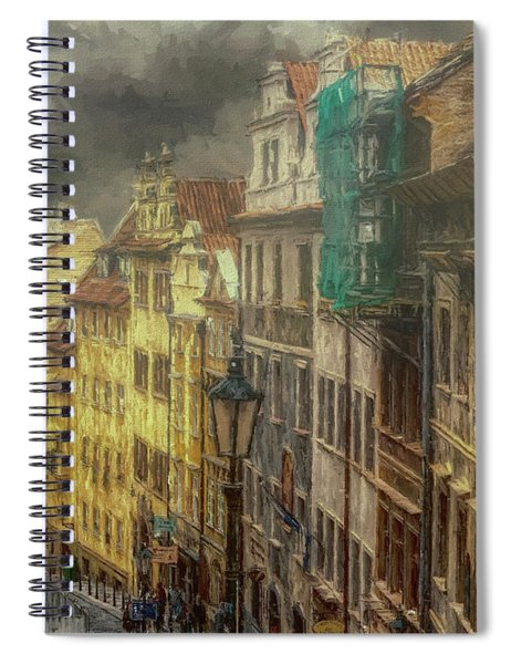 Downhill, Downtown, Prague Spiral Notebook