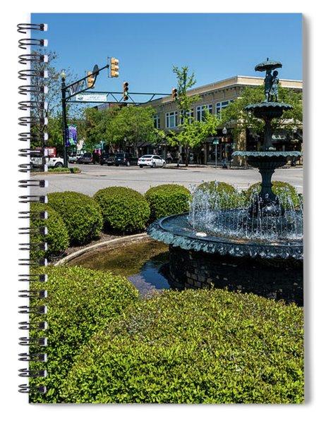 Downtown Aiken Sc Fountain Spiral Notebook
