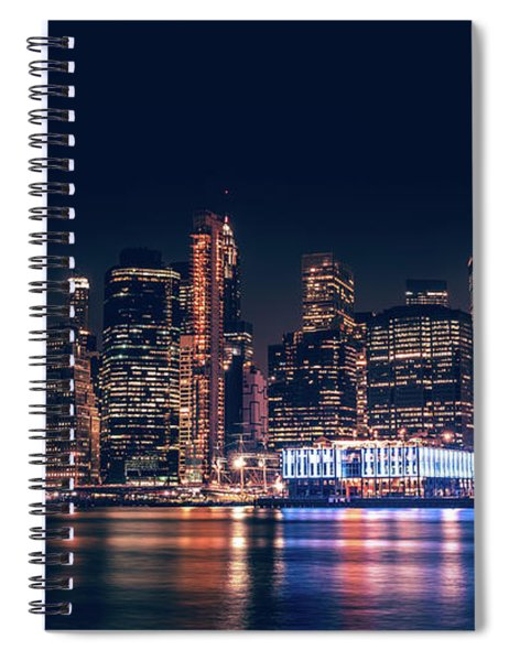 Downtown At Night Spiral Notebook