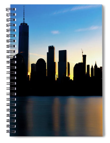 Downtown Silhouette Spiral Notebook
