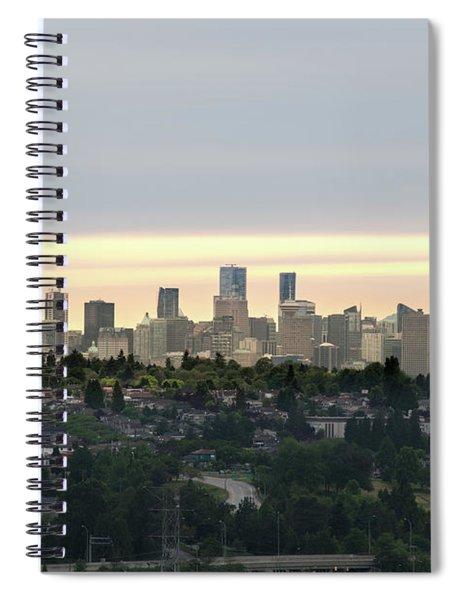 Downtown Sunset Spiral Notebook