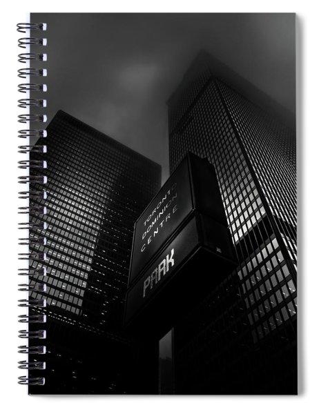 Downtown Toronto Fogfest No 15 Spiral Notebook