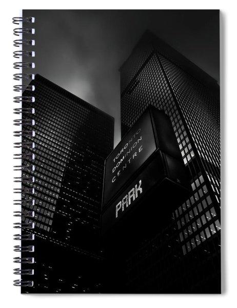 Downtown Toronto Fogfest No 16 Spiral Notebook