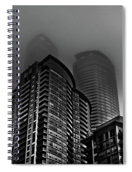 Downtown Toronto Fogfest No 22 Spiral Notebook