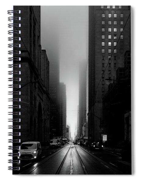 Downtown Toronto Fogfest No 26 Spiral Notebook