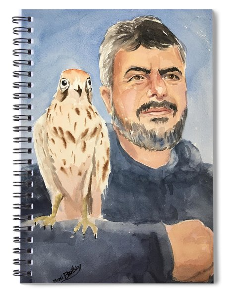 Dr Yoossef And Hawk Spiral Notebook
