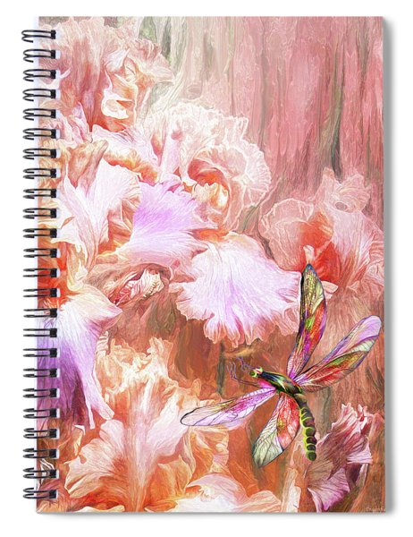 Dragonfly And Iris Spiral Notebook