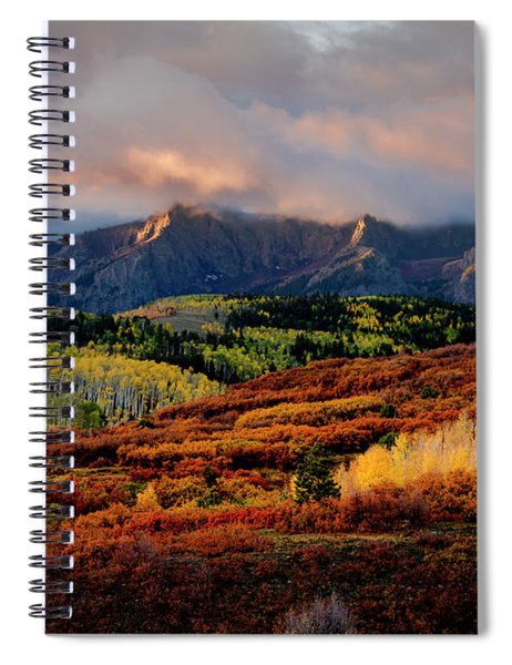 Dramatic Colorful Fall Sunrise In Colorado San Juan Mountains Spiral Notebook