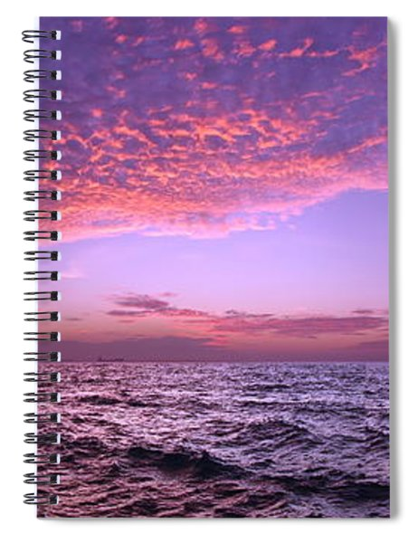 Dramatic Ocean And Sky Scene After Sunset Spiral Notebook