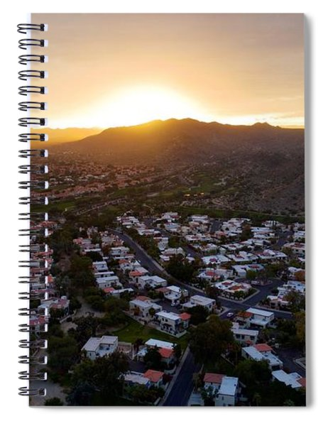 Dramatic South Mountain Sunset Spiral Notebook