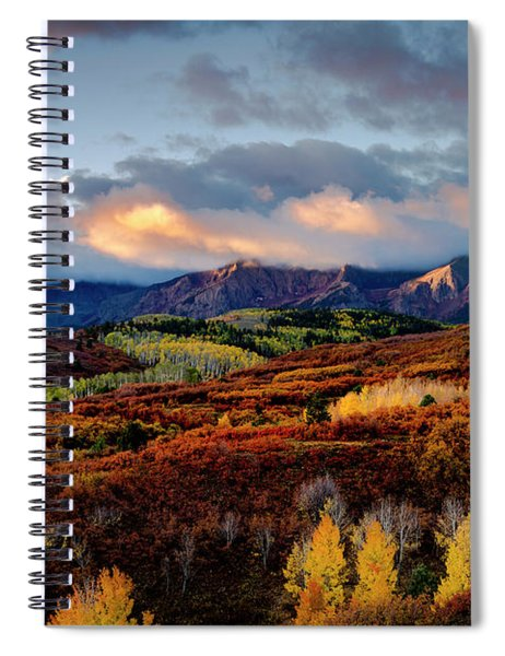 Dramatic Sunrise In The San Juan Mountains Of Colorado Spiral Notebook