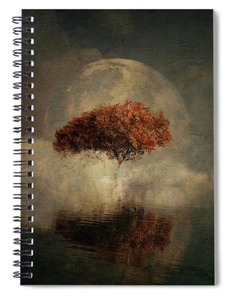 Dream Landscape With Full Moon Spiral Notebook