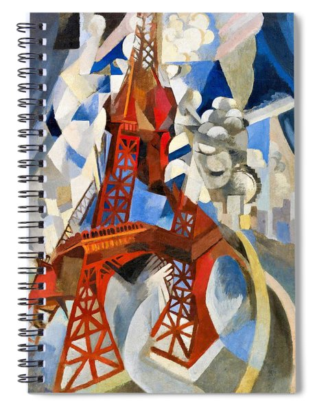 Digital Remastered Edition - Red Tour Eiffel Spiral Notebook