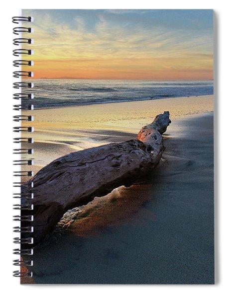 Drift Wood At Sunset II Spiral Notebook