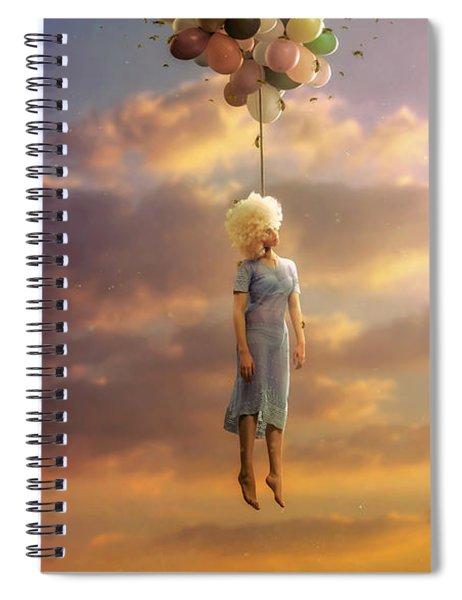Drifting On A Sad Song Spiral Notebook