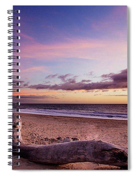 Driftwood At Sunset Spiral Notebook
