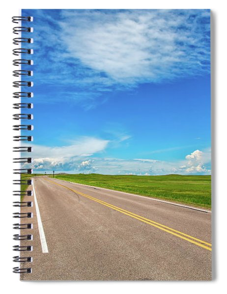 Driving The Badlands Loop Spiral Notebook