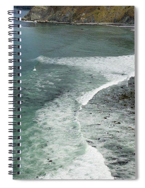 Drone Over Big Sur California Spiral Notebook