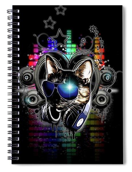 Drop The Bass Spiral Notebook