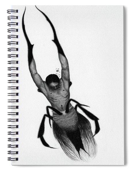 Drowned Samurai Kaito - Artwork Spiral Notebook