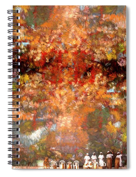 Drummers In A Leaf Storm Spiral Notebook