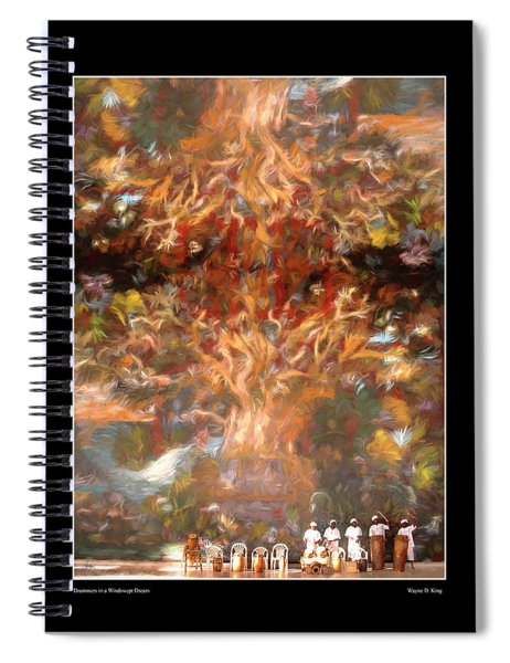 Drummers In A Windswept Dream Poster Spiral Notebook