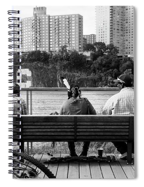 Drums Along The Hudson  Spiral Notebook