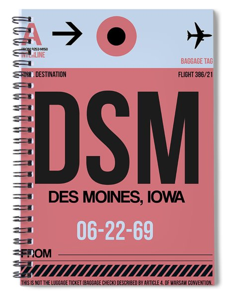 Dsm Des Moines Luggage Tag I Spiral Notebook