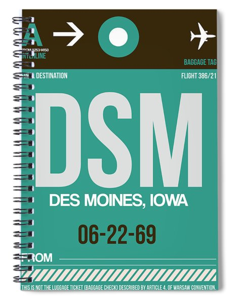 Dsm Des Moines Luggage Tag II Spiral Notebook