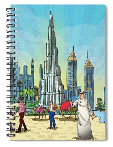 Dubai Illustration  Spiral Notebook