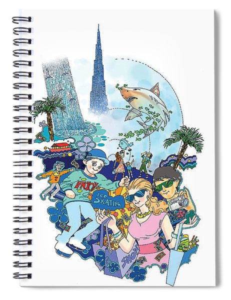 Dubai Mall  Spiral Notebook