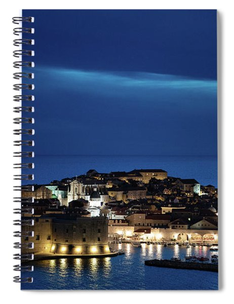 Dubrovnik Old Town At Night Spiral Notebook