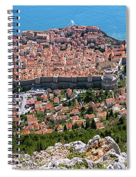 Dubrovnik Panorama From The Hill Spiral Notebook