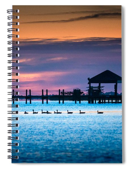 Duck Sunset - Outer Banks North Carolina Spiral Notebook