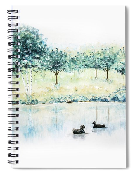 Ducks On Lake Spiral Notebook