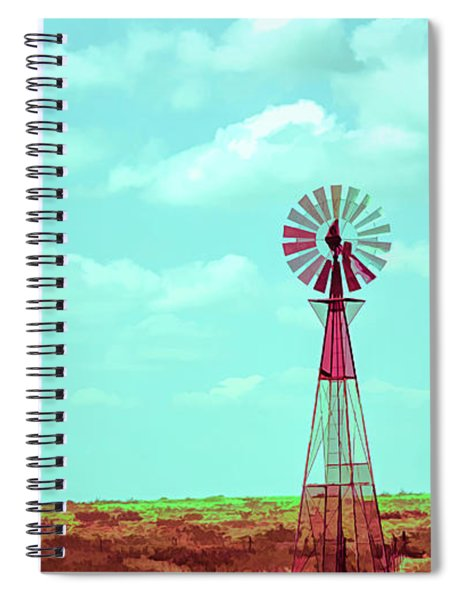 Dueling Tones Windmill Spiral Notebook