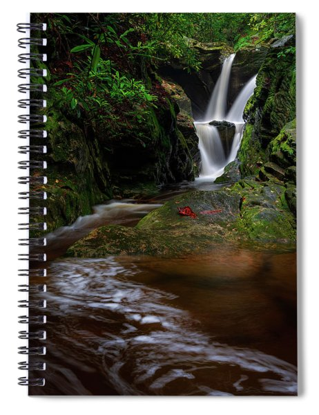Duggers Creek Falls - Blue Ridge Parkway - North Carolina Spiral Notebook