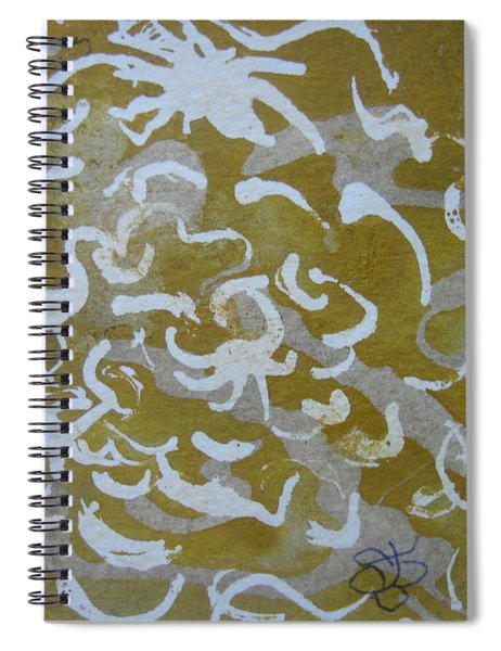 Dull Yellow With Masking Fluid Spiral Notebook by AJ Brown