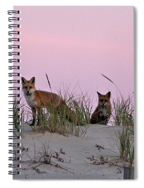 Dune Foxes Spiral Notebook