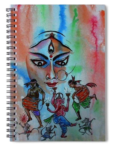 Devi Durga-3 Spiral Notebook