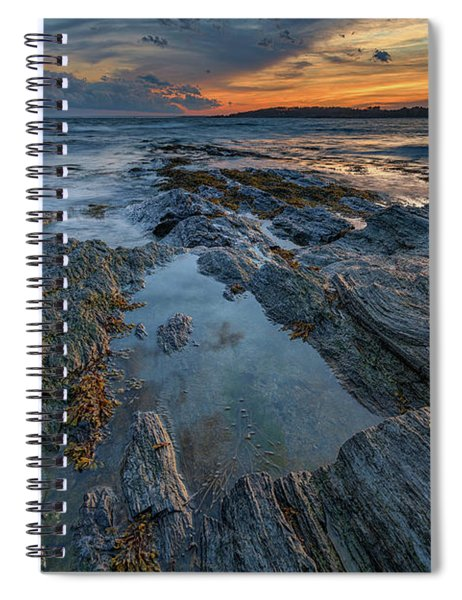 Dusk At Kettle Cove Spiral Notebook