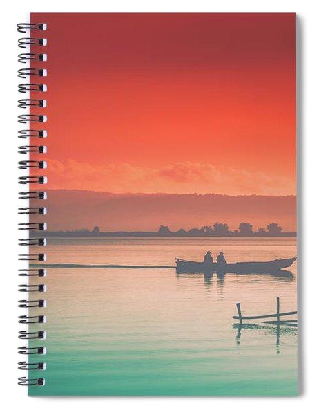 Dusk At Lake Poso  Spiral Notebook