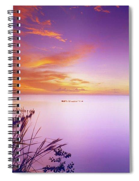 Dusk At Waterloo, Trinidad Spiral Notebook