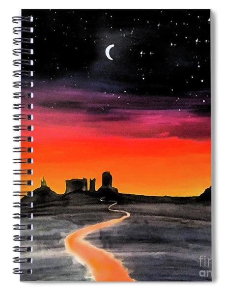 dusk in Monument Valley Spiral Notebook