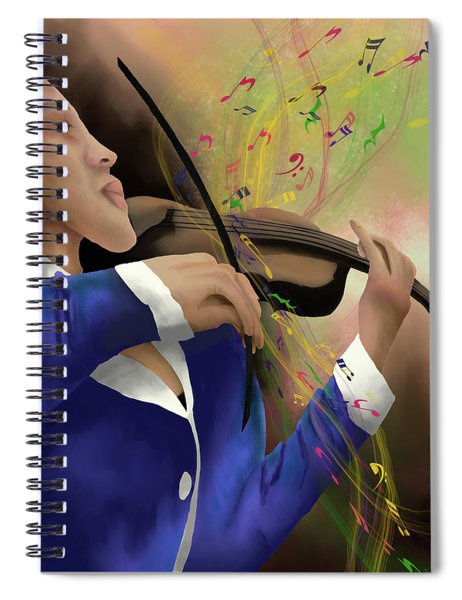 Dusting Off The Violin Spiral Notebook