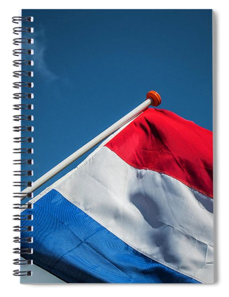 Spiral Notebook featuring the photograph Dutch Flag by Anjo Ten Kate