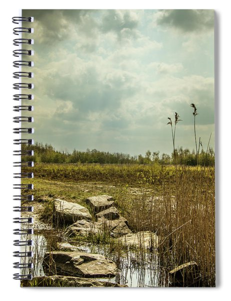 Spiral Notebook featuring the photograph Dutch Landscape. by Anjo Ten Kate