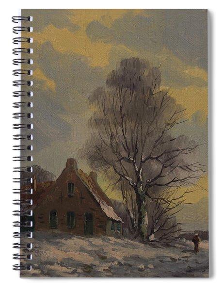 Dutch Snow Landscape Spiral Notebook